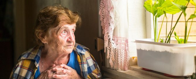 senior housing elder alone in apartment
