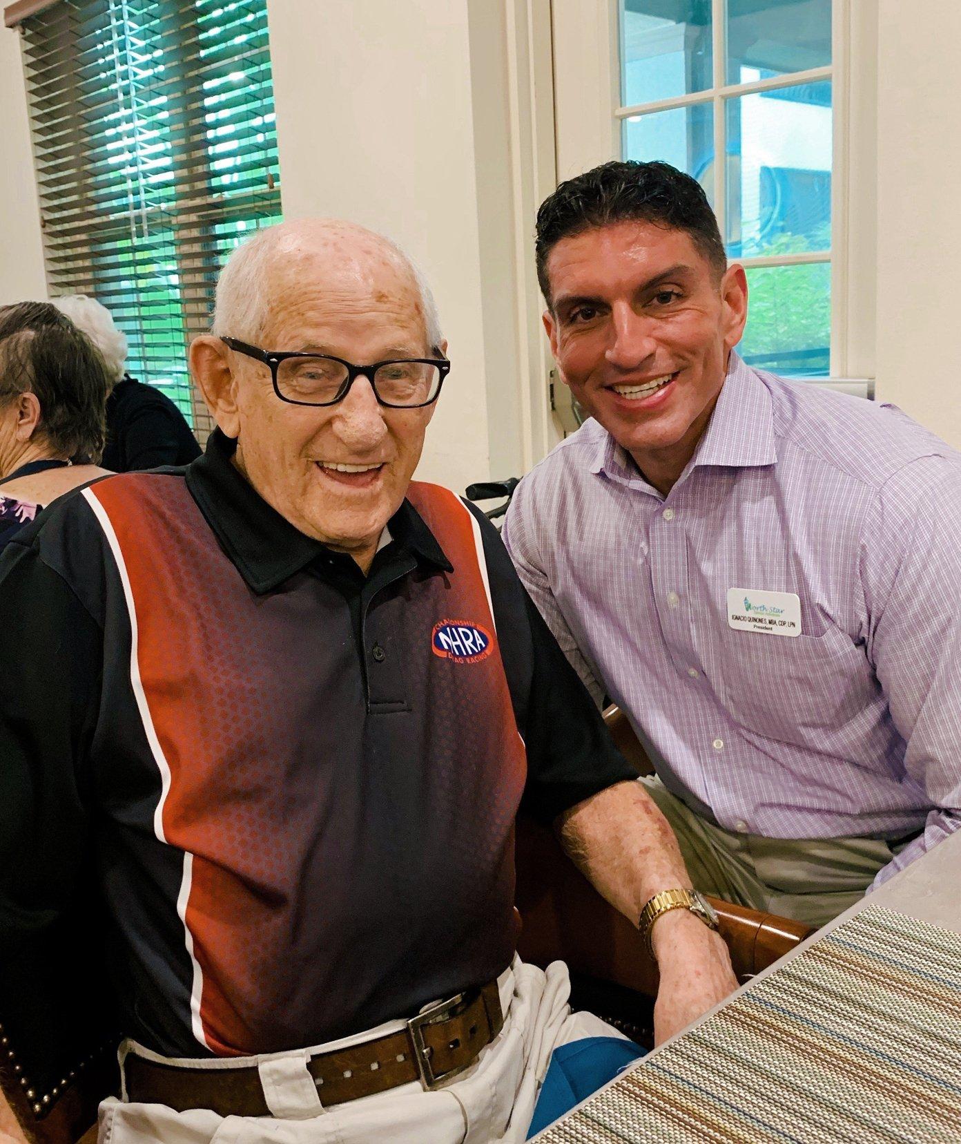 Ignacio with geriatric care client