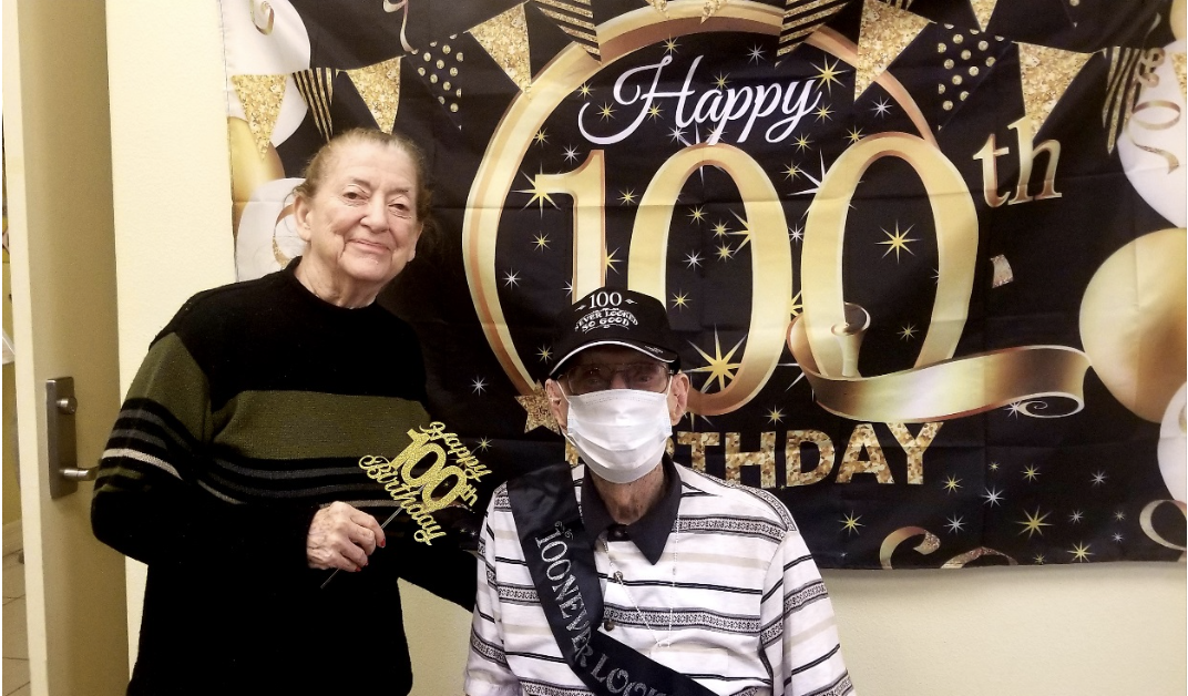 Joe's 100th birthday at Excellence Senior Living in Orlando