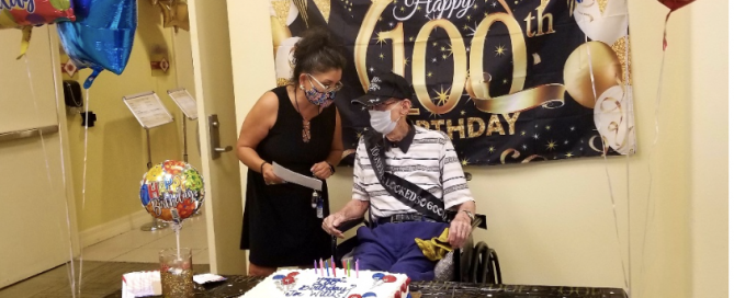 100th birthday at Excellence Senior Living Orlando